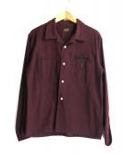 TENDERLOIN(テンダーロイン)の古着「オープンカラーワークシャツ」 ボルドー