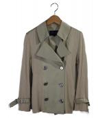 BURBERRY LONDON(バーバリーロンドン)の古着「切替ニットトレンチジャケット」 ベージュ