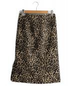 VICKY(ビッキー)の古着「レオパードタイトスカート」|ブラウン