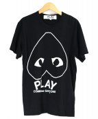PLAY COMME des GARCONS(プレイコムデギャルソン)の古着「カットソー」|ブラック