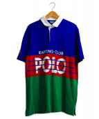 POLO RALPH LAUREN(ポロ バイ ラルフローレン)の古着「High Tech Logo-Print Cotton-Pi」|ブルー