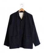 RINEN(リネン)の古着「ウールシャツジャケット」|ネイビー