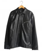 Schott()の古着「LEATHER GARAGE SHIRT」|ブラック