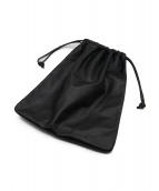 A.P.C.(アーペーセー)の古着「レザー巾着バッグ」|ブラック