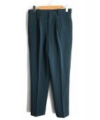 H BEAUTY&YOUTH(エイチビューティアンドユース)の古着「スラックスパンツ」|グリーン