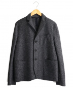 HARRIS WHARF LONDON(ハリスワーフロンドン)の古着「エルボーパッチ3Bジャケット」|グレー