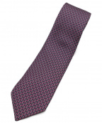HERMES(エルメス)の古着「総柄シルクネクタイ」 ピンク×グレー