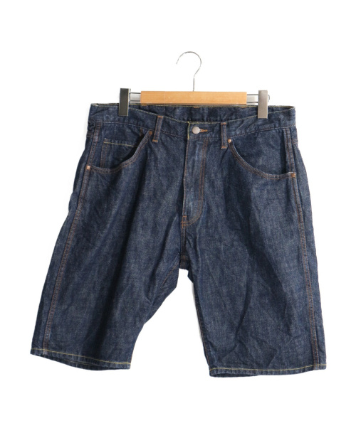 A BATHING APE(アベイシングエイプ)A BATHING APE (アベイシングエイプ) デニムハーフパンツ インディゴ サイズ:Lの古着・服飾アイテム