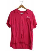 RUDE GALLERY(ルードギャラリ)の古着「スーベニアシャツ」|ピンク