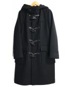 JOURNAL STANDARD(ジャーナルスタンダード)の古着「メルトンダッフルコート」|ブラック