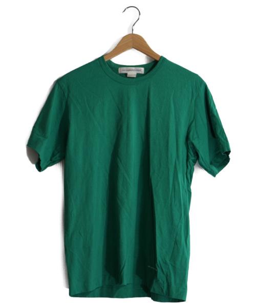 COMME des GARCONS SHIRT(コムデギャルソンシャツ)COMME des GARCONS SHIRT (コムデギャルソンシャツ) ロゴプリントTシャツ グリーン サイズ:Mの古着・服飾アイテム