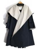 Max Mara(マックスマーラ)の古着「バックボタンフーデッドコート」|ネイビー