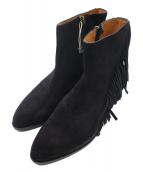 BUTTERO(ブッテロ)の古着「フリンジスウェードブーツ」|ブラック