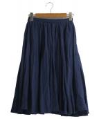 LE GLAZIK(ルグラジック)の古着「リネンスカート」|ネイビー