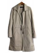 DSQUARED2(ディースクエアード)の古着「ドローストリングロングコート」|ベージュ