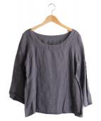 YAMMA(ヤンマ)の古着「リネンプルオーバーシャツ」 ライトグレー