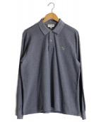 LACOSTE(ラコステ)の古着「長袖ポロシャツ」|ブルー