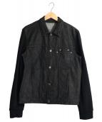 NEIL BARRETT(ニールバレット)の古着「スリーブ切替デニムジャケット」|インディゴ