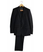 ARTISAN(アルチザン)の古着「ピークドラペルセットアップスーツ」|ブラック