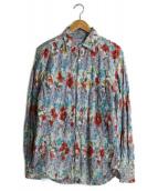 Paul Smith(ポールスミス)の古着「パッチワークシャツ」|スカイブルー