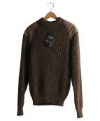 BLACK SHEEP(ブラックシープ)の古着「エルボーパッチニット」|ブラウン