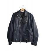 BEAUTY&YOUTH(ビューティアンドユース)の古着「シープダブルライダースジャケット」|ネイビー
