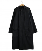 MHL(エムエイチエル)の古着「スタンドカラーロングコート」|ブラック