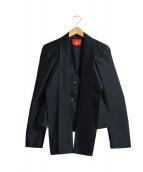 V.W. RED LABEL(ヴィヴィアンウエストウッドレッドレーベル)の古着「デザインジャケット」|ブラック