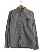 TENDERLOIN(テンダーロイン)の古着「ステッチ刺繍シャツ」 グレー