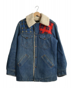 Wrangler(ラングラ)の古着「70sパッチワークデニムボアジャケット」|インディゴ