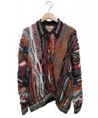 COOGI(クージー)の古着「襟付3Dニット」|マルチカラー