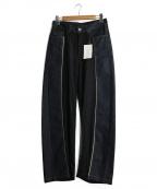 DIESEL Black Gold(ディーゼル ブラック ゴールド)の古着「ウール切替デニムパンツ」|インディゴ
