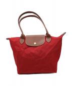 LONGCHAMP(ロンシャン)の古着「折り畳みミニトートバッグ」|レッド