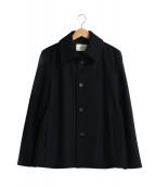 PUBLIC TOKYO(パブリックトウキョウ)の古着「メルトンシングルブルゾン」 ブラック