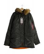 ALPHA(アルバ)の古着「N-3Bフライトジャケット」 オリーブ
