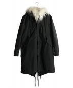 NEIL BARRETT(ニールバレット)の古着「フィッシュテールモッズコート」|ブラック