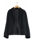 tricot COMME des GARCONS(トリコ コムデギャルソン)の古着「シワ加工再構築ジャケット」|ブラック