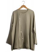 JURGEN LEHL(ヨーガンレール)の古着「デザインシルクブラウス」|ベージュ