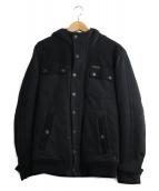 DIESEL(ディーゼル)の古着「裏ボアフーデッドジャケット」|ブラック