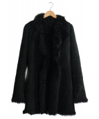 JOSEPH(ジョセフ)の古着「リアルムートンコート」|ブラック