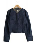 CHANEL(シャネル)の古着「ラメデニムジャケット」|インディゴ