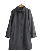 ()の古着「シングルメルトンPコート」 グレー