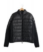ARMANI COLLEZIONI(アルマーニコレツォーニ)の古着「スリーブ切替中綿ジャケット」|ブラック