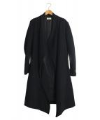 HELMUT LANG(ヘルムートラング)の古着「リブ切替ウールコート」|ブラック