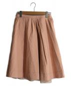 PRADA(プラダ)の古着「コットンフレアスカート」|ピンク