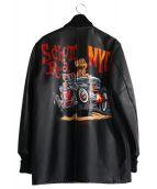 SCHOTT BROS.(ショットブロス)の古着「バックペイントファラオコート」|ブラック