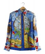 HERMES(エルメス)の古着「ヴィンテージシルクブラウス」 ブルー