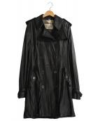 BURBERRY BRIT(バーバリーブリット)の古着「ラムレザーコート」 ブラック
