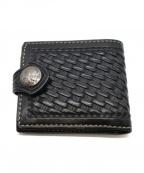 FUNNY(ファニー)の古着「コンチョ2つ折り財布」 ブラック