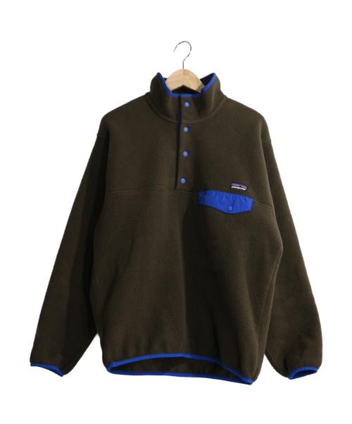 Patagonia(パタゴニア)Patagonia (パタゴニア) シンチラスナップTプルオーバー ブラウン×ブルー サイズ:Sの古着・服飾アイテム